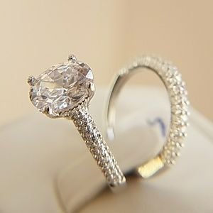 Jewelry - 2.5ct Oval cut Gold Plated Engagement Ring size 7
